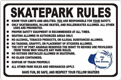 SkatePark Rules